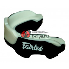 Капа для тайского бокса Fairtex MG3 black white gel