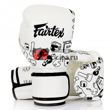 Перчатки Fairtex BGV14 White Street Art Graffiti 1970