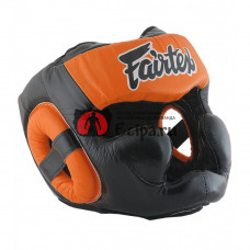 Шлем тайского бокса Fairtex HG13 black orange
