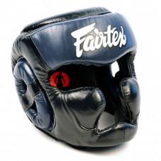 Боксёрский шлем Fairtex Full Head HG13 black blue