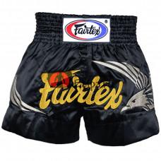 Шорты для тайского бокса Fairtex BS0657 Black-Silver Eagle