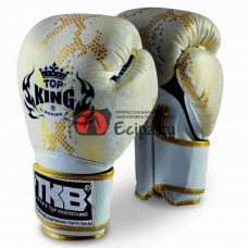 Muay Thai перчатки TOP KING Gloves Super Snake White Gold