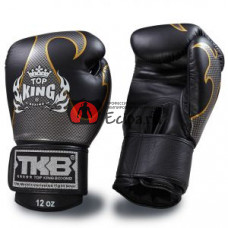 Тайские перчатки для Muay Thai TOP KING Gloves Empower Black Silver