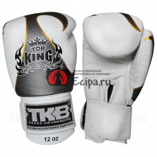 Тайские перчатки TOP KING Gloves Empower White Silver