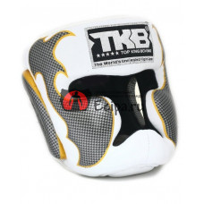 Тайский шлем TOP KING Head Guard Empower white silver TKHGEM-01