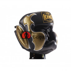 Боксёрский шлем TOP KING Head Guard Empower black gold TKHGEM-01