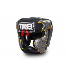 Шлем тайский TOP KING Head Guard Empower black silver TKHGEM-01