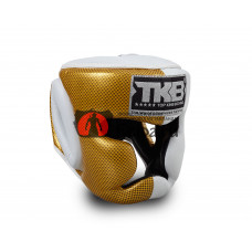 Шлем для кикбоксинга TOP KING Empower white gold TKHGEM-02