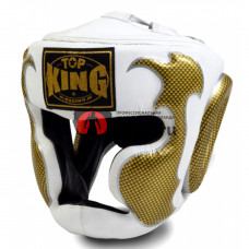 Боксёрский шлем TOP KING Head Guard Empower white gold TKHGEM-01